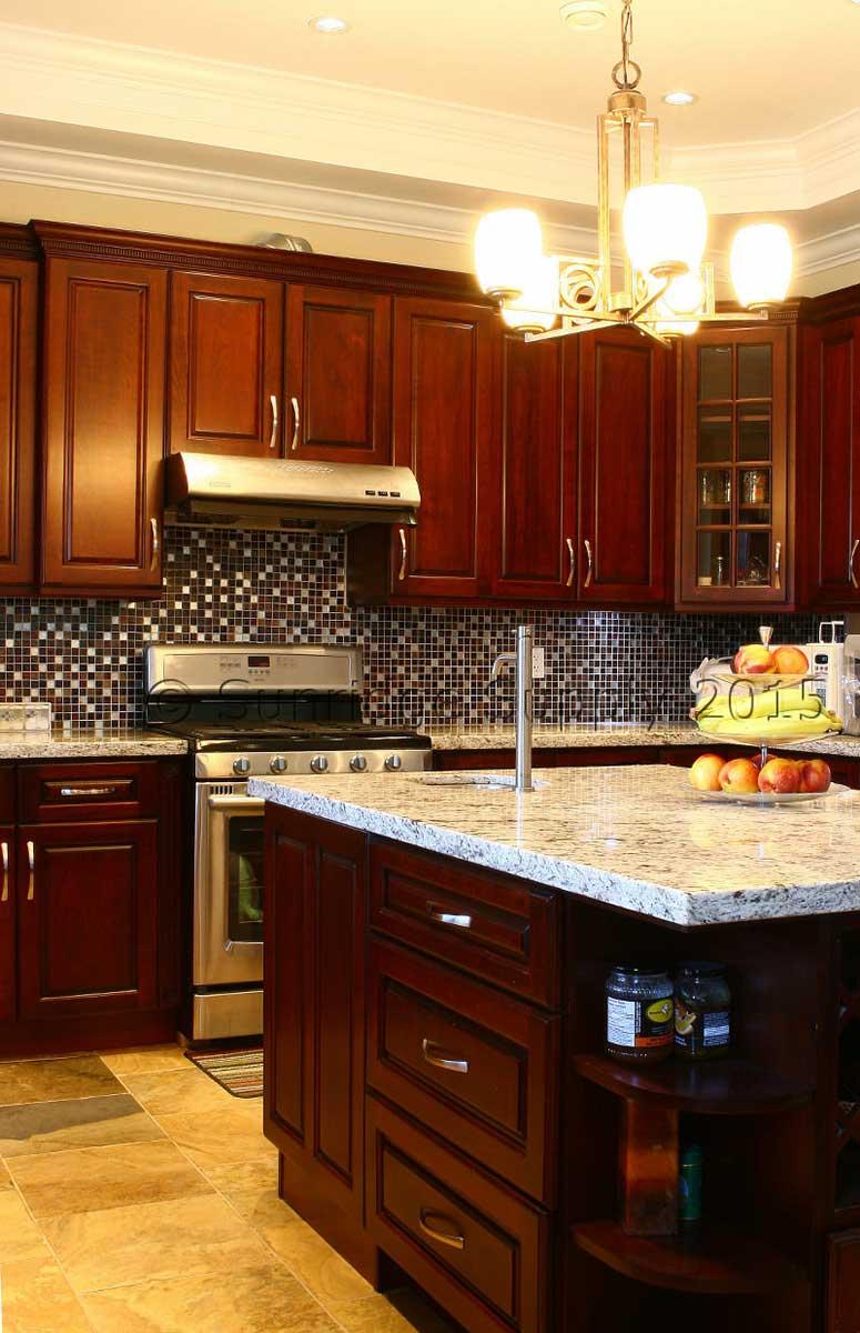 Cherry Raised Panel Kitchen Cabinets   Kelowna, BC