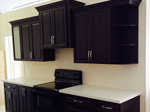 Choco and Chocolate coloured Kitchen Cabinets