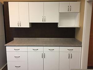 Flat White Kitchen Cabinets