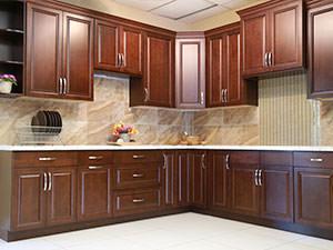 Mocha coloured Kitchen Cabinets